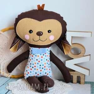 słodka małpka marek 45 cm - chłopczyk, gwiazdka, mikołajki roczek
