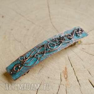 ozdoby do włosów blue - spinka włosów, automat