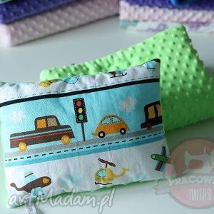 komplet do wózka kołderka poduszka zielone moto, kołderka, poduszka, komplet, minky