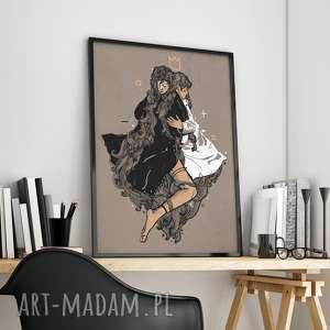 oryginalna ilustracja - duży format 100x70cm - plakat, obraz, salon, sypilnia