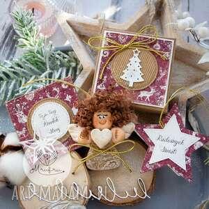 Święta upominki? Aniołek bożonarodzeniowy zestaw świąteczny: