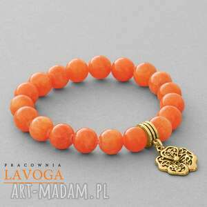 jade with pendant in orange lavoga - zawieszka, jadeit