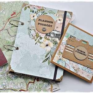 scrapbooking albumy prezent dla podróżnika - planner podróży i folder na zdjęcia