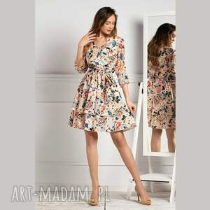 sukienka wendy mini jusenia, mini, w kwiaty, kwiatowy print