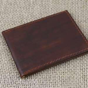 ręczne wykonanie portfele skórzany męski portfel
