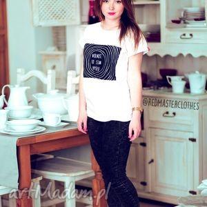 bluzki koszulka t-shirt top do szkoły z nadrukiem napisem, koszulka, modna