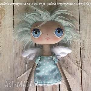 Prezent ANIOŁEK lalka - dekoracja tekstylna, OOAK (one of a kind), lalka-aniołek