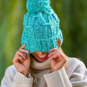 hand-made czapki euforia liść mięty