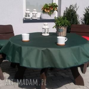 dom obrus ogrodowy koło 150cm na wymiar, ogród, stół, mocny, wodoodporny, lato