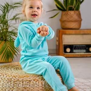 bejbistory dres aqua - welur, dziewczynka, rękodzieło, dres, dziecko, komplet