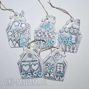 ręcznie wykonane pomysł na świąteczny prezent nasze domki - ozdoba choinkowa