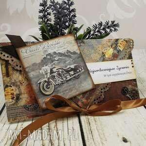 shiraja kartka kopertówka dla mężczyzny k28, motocykl, urodzinowa, retro