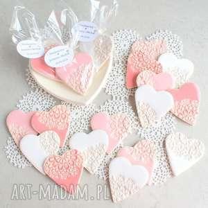 Prezent Zestaw magnesów - upominki dla gości, ślub, wesele, magnes, serce, upominek