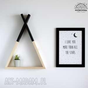 drewniana pÓŁka - tipi - tipi, drewniane, dekoracja, półka, pokój