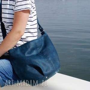 Mini sak vegan morski na ramię manufakturamms torba, torebka