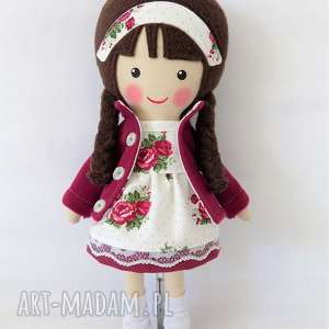Prezent malowana lala klaudyna, lalka, zabawka, przytulanka, prezent, niespodzianka,