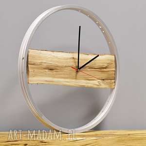ZEGAR WOOD BIKES BAZAAR, drewniany, drewno, zegar, duży, ścienny, rowerzysta