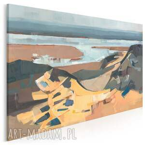 obraz na płótnie - pejzaż plaża abstrakcja 120x80 cm 704701