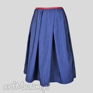 Spódnica NY Midi Blu - spódnica, midi, granat, jesień
