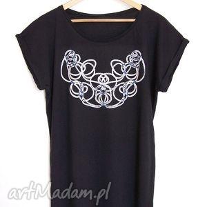 SZNUR koszulka oversize czarna, koszulka, oversize, bluzka, nadruk, sznur, tshirt