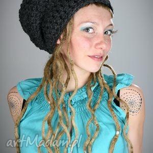 DreadLove Mono 07, czapka, zima, ciepła, długa, dredy, dready