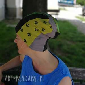 handmade czapki czapka damska na podszewce szyta patchworkowo