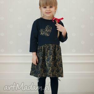 sukienka lilly dziecięca idealna na święta , sukienka, świąteczna, mamaicórka, granat