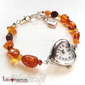 zegarki zegarek bursztyny na specjalne zamÓwienie pani barbary, zegarek, bursztyn