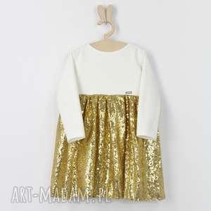 Sukienka zlota Ecru z cekinami, cekiny