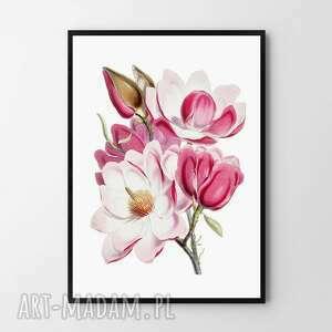 plakat obraz różowy bukiet 50x70 cm b2, obraz, plakat, grafika, kwiaty