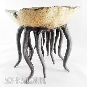unikalny, miska ceramiczna - morska, sztuka, kuchnia, miska, dekoracje, prezent