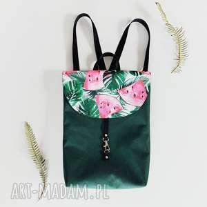 plecak teczka butelkowa zieleń, plecak, wodoodporny, arbuz, lato, torebka
