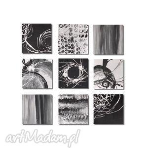 abstrakcja w czerni i bieli, nowoczesny obraz ręcznie malowany, obraz,