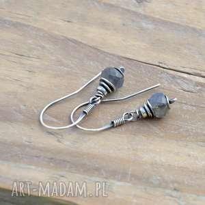 Labradoryt srebrne wiszące kolczyki iii grey line project