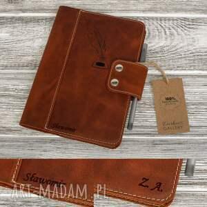 hand-made notesy ręcznie robiony skórzany notes, okładka na zeszyt format a5 skóra