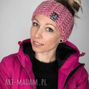 opaska mono 28 - brudna różowa, prezent, upominek, snowboard, zimowa, ciepła