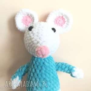 myszka szydełkowa przytulanka - przytulanka, maskotka, dziecko, myszka