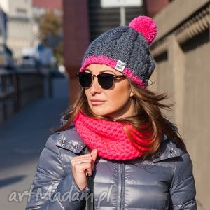 czapka my choice 2 - zima, pompon, czapka, ocieplana, włóczka