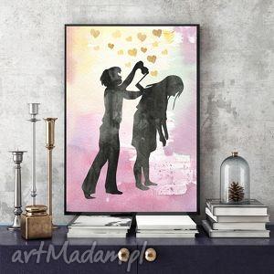 M.I.Ł.O.Ś.Ć... ILUSTRACJA A4, ilustracja, a4, obraz, miłość, opieka