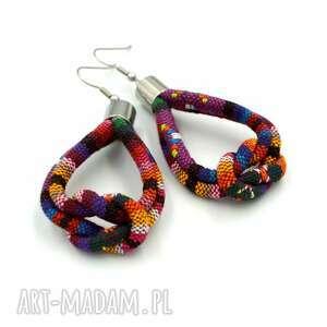 kolczyki boho montezume knot, etniczne, styl boho, wiszące
