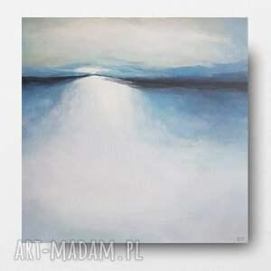 niebieski pejzaż-obraz akrylowy formatu 50/50
