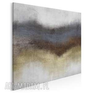obraz na płótnie - abstrakcja złoty w kwadracie 80x80 cm 63802