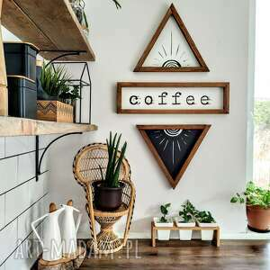 Zestaw napis coffee 2x sun dekoracje beart drewniane dekoracje