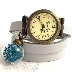 Turkus - Zegarek/bransoletka , zegarek, bransoletka, prawdziwe, kwiaty, kulka