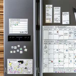 planer kalendarz miesięczny magnetyczny na lodówkę dla rodziny - suchościeralny