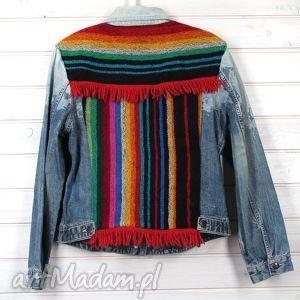 handmade kurtka dżinsowa katana aztec boho