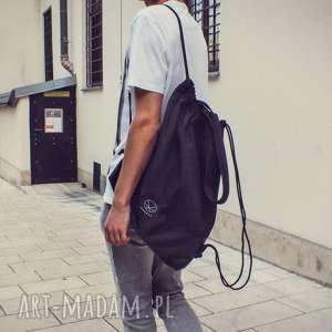 na ramię torba worek czarny 2w1, worek, miejski, pojemna
