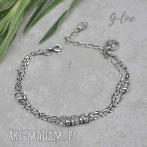 delikatna srebrna bransoletka z kamieniem księżycowym, srebro, kamień