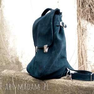 LILITH CHIMERA zamsz naturalny BUTELKOWA ZIELEŃ, kobiecy, plecak, torba, pojemny