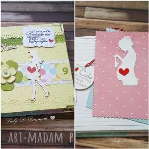 hand-made scrapbooking albumy pamiętnik ciążowy/będę